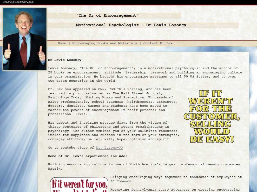 Website design client Doctor Lewis Losoncy Website