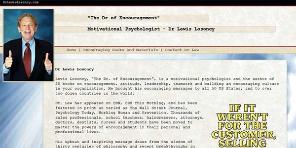 Website design client Dr Lewis Lo Soncy