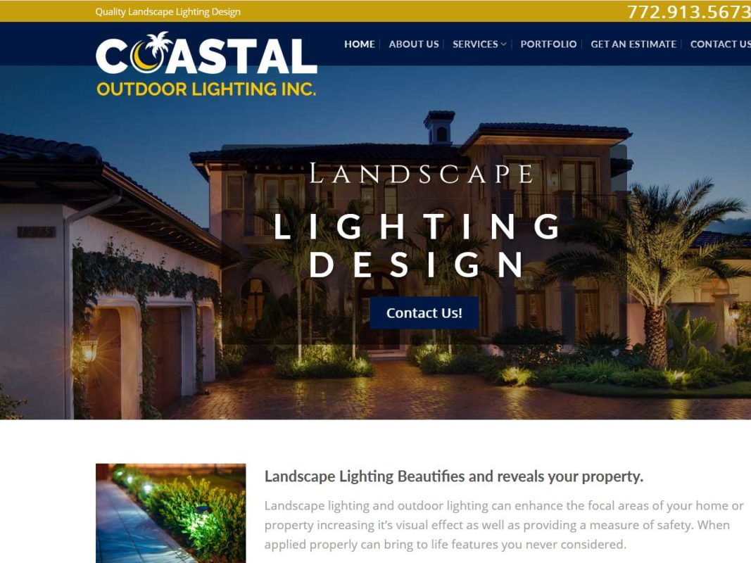 Website design client Landscape Lighting Vero Beach