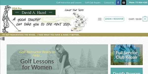 Website design client Thy Old Golf Pro